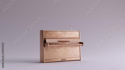 Obraz Bronze Classic Upright Piano 3d illustration 3d render - fototapety do salonu