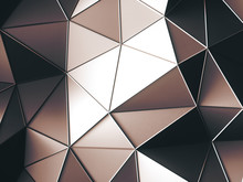 Abstract Bright Brown Triangles