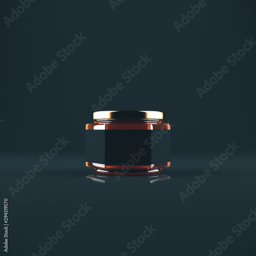 Fotografia Empty label honey jar