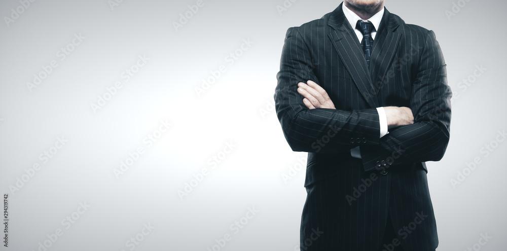 Fototapeta Headless businessman