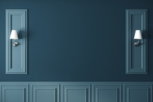 Empty Blue Classic Wall