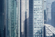 canvas print picture - skyscrapers and modern office buildings closeup
