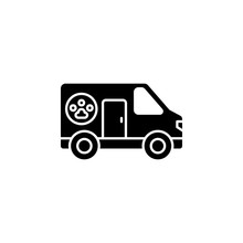 Pets, Ambulance Icon. Simple Glyph, Flat Vector Of Petshop Icons For Ui And Ux, Website Or Mobile Application