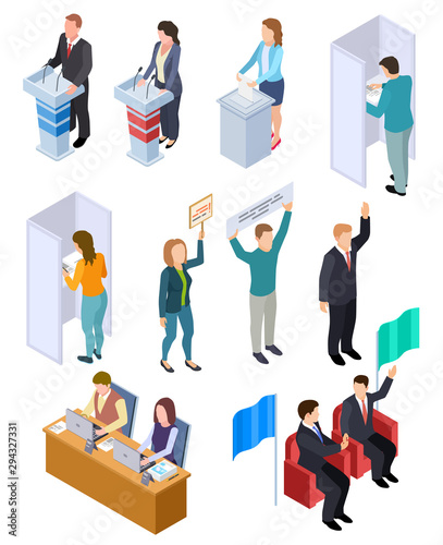 People election isometric Tablou Canvas