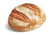 Leinwandbild Motiv Loaf of Rye Bread. Freshly Baked Bread Isolated on White, Full Depth of Field