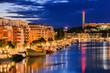 Leinwanddruck Bild - Stockholm, Sweden The area of Hammarby Hamnen at dawn.