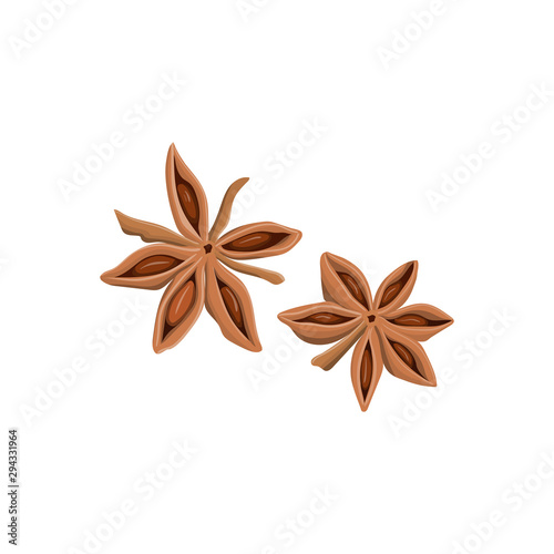 Photo Stars of anise isolated on the white background.