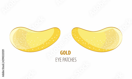 Hydrogel golden cosmetic eye patch jar Tablou Canvas