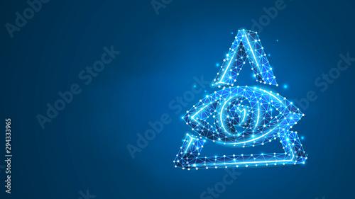 Fotografia, Obraz Masons symbol All-seeing eye of God