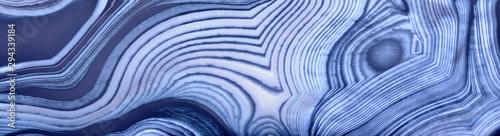 Spoed Fotobehang Natuur contrast blue agate texture strip