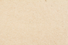 Closeup Brown Beige Sheet Of Craft Cardboard Paper Texture Background.