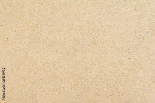 Brown beige sheet of craft cardboard paper texture background. - 294340732