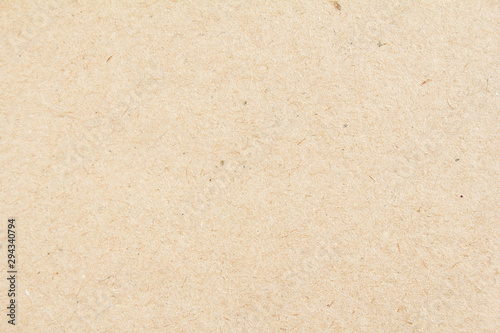 Closeup brown beige sheet of craft cardboard paper texture background Canvas Print