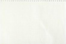 Closeup White Checkered Notebo...