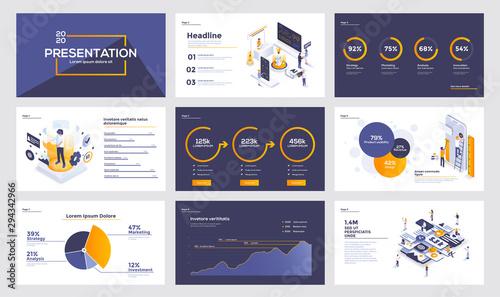 Fotografija Infographics slide template design 2