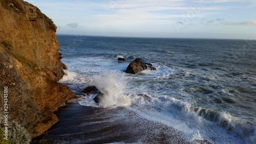 Fotografía la côte bretonne tempête vague