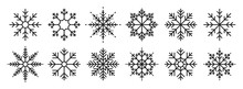 Snowflakes Big Set Icons. Flak...