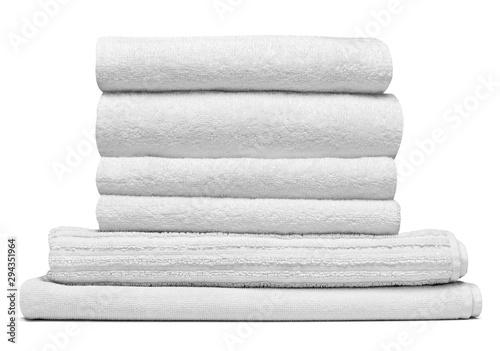 towel cotton bathroom white spa cloth textile Obraz na płótnie