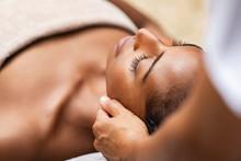 Black Woman Getting Head Massage