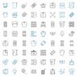 cotton icons set