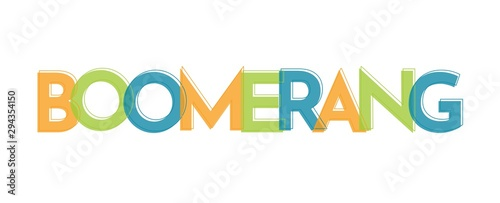 Boomerang word concept Canvas Print