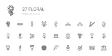 Floral Icons Set
