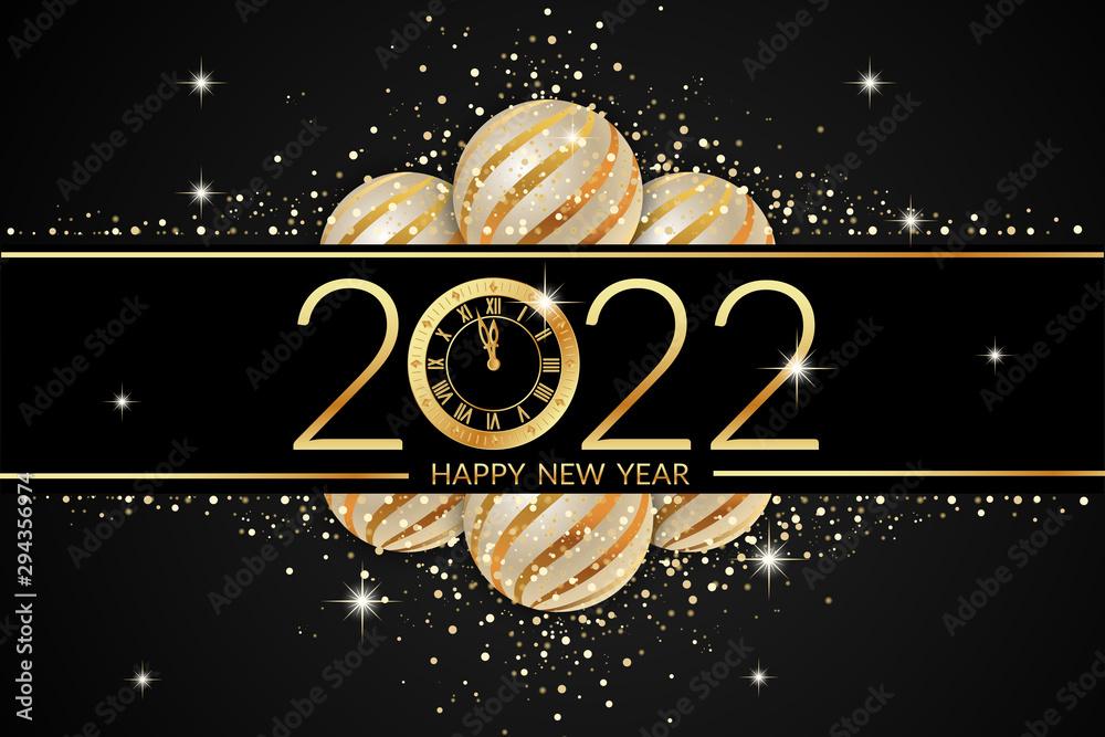 Fototapeta 2022 happy new year celebration