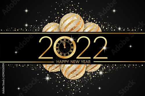 Fototapeta 2022 happy new year celebration obraz