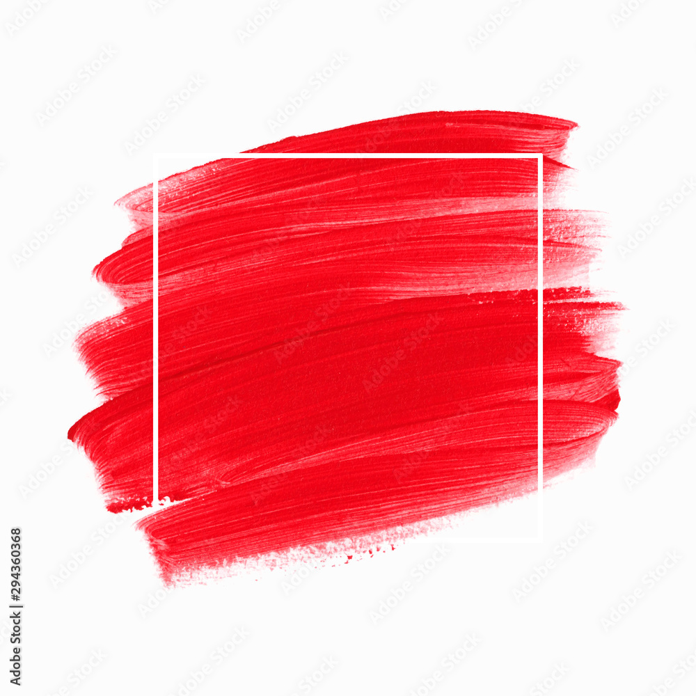 Fototapeta Logo brush painted watercolor background vector. Perfect design for headline and sale banner.