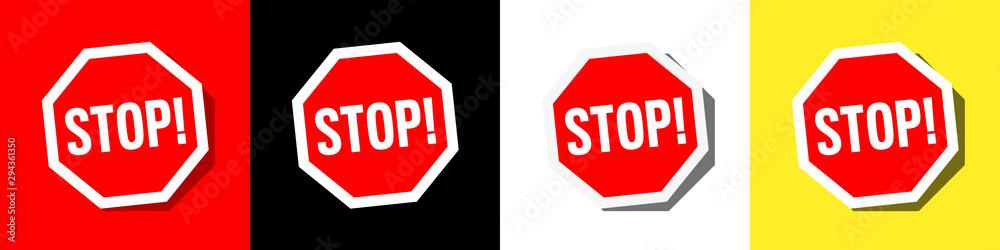 Fototapeta Picto stop !