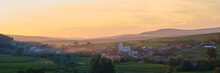 Sunset Panorama Of Transylvani...