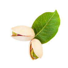 Raw Pistachio Nut Isolated On White Background