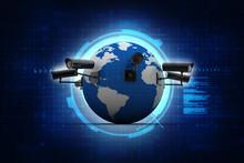3d Rendering Surveillance CCTV...