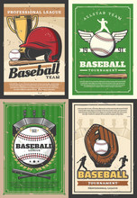 Baseball Player, Sport Ball, Bat And Trophy Cup