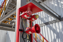 Alarm And Emergency Warning System Installed On The Territory Of The Petrochemical Complex
