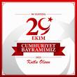 "29 Ekim Cumhuriyet Bayrami. Turkey map. Translation: ""29 October Republic Day in Turkey and the National Day in Turkey. Celebrations republic. National Celebration card. Vector illustration ""."