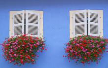 Blaues Haus In Colmar, Elsass, Frankreich