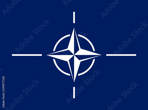 North Atlantic Treaty Organization (NATO) flag in official colors and proportion Canvas Print