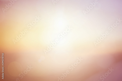 Natural background blurring warm colors and bright sun light Canvas Print