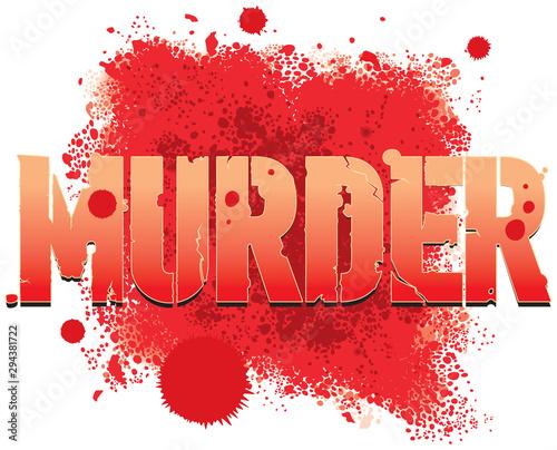 Fotomural  Murder in blood splatter theme