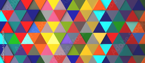 Abstract modern colorful triangle background Canvas Print