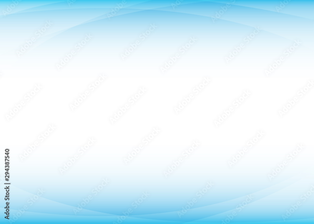 Fototapeta Curves on the blue above and behind background wave concept vector illustration