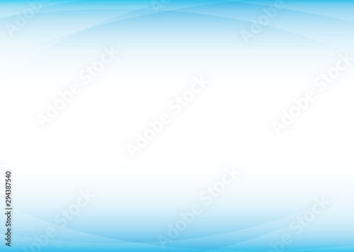 Curves on the blue above and behind background wave concept vector illustration