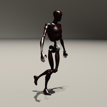 Rusted Robot. 3D Rendered Model