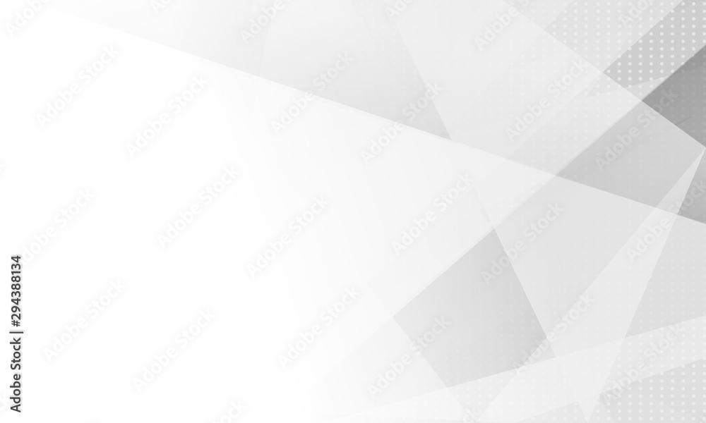 Fototapety, obrazy: design white light & grey geometric background.