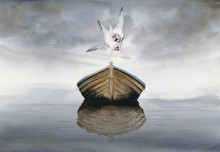 Watercolor Picture Of A Boat...