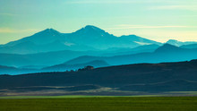 Overlook Of Mountain Range And...