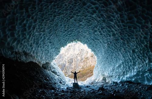 Eiskapelle Berchtesgaden Gletscherhöhle Nationalpark Königssee Gegenlicht Klimaw Canvas Print