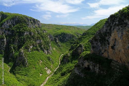 Foto op Canvas Zwart Vikos Gorge, Pindus Mountains, Zagori, Epirus, Greece