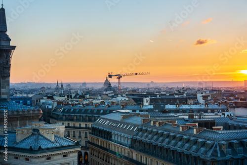 Foto op Plexiglas Parijs PARIS, FRANCE - December 12, 2018: Street view of river Seine in Paris city, France.